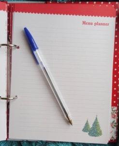 Cath Kidston Christmas Organiser Menu Planner