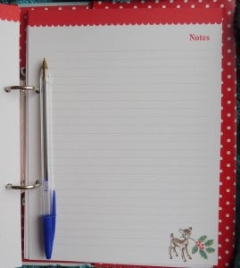 Cath Kidston Christmas Organiser Notes