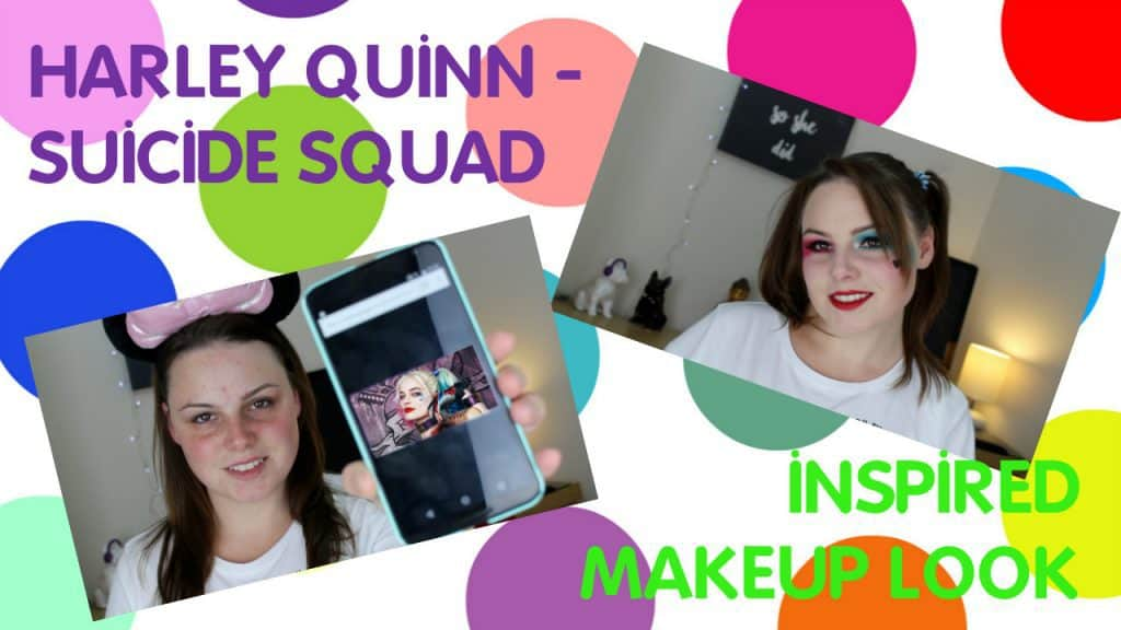 Harley Quinn Suicide Squad Inspired Make-up