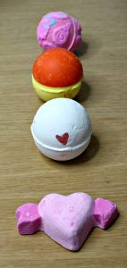Lush Valentine's collection bath bombs