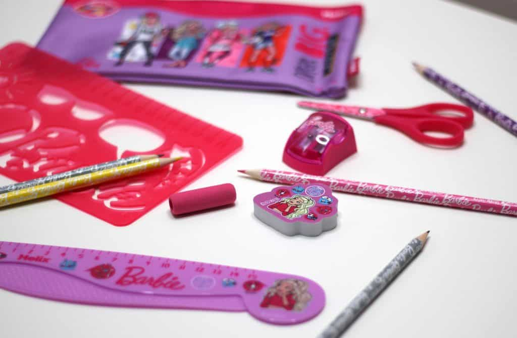 back to school fun to learn barbie stationary