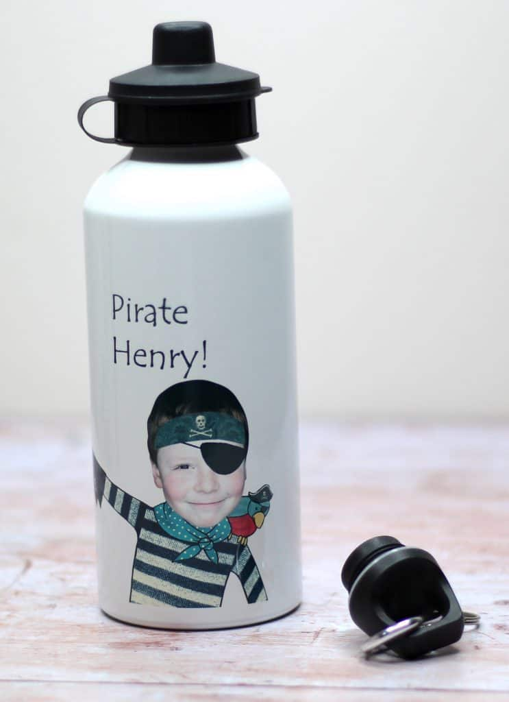 Back to school personalised water bottle