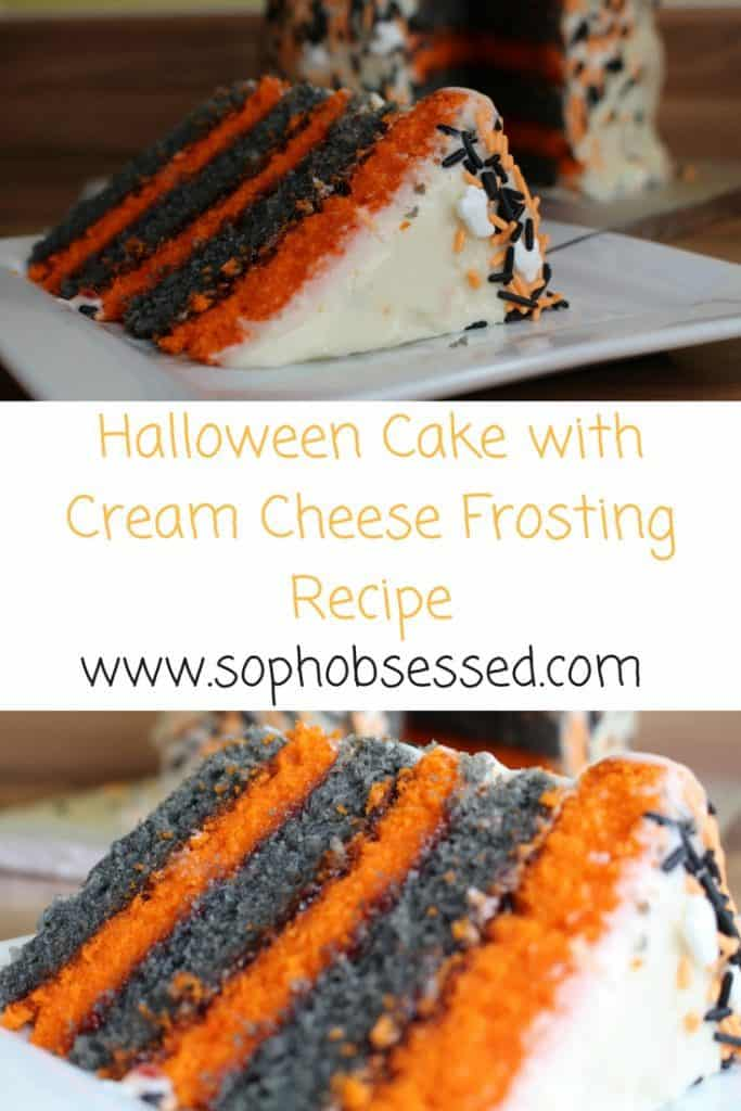 Halloween Cake with Cream Cheese Frosting