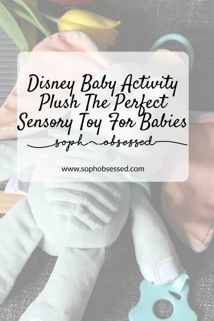 This Disney Baby Activity Plush from Rainbow Designs is the perfect sensory toy for babies. It's important for babies to have the opportunity to explore and take in their surroundings as this is how they learn. This cute toy has different sensory elements making it the perfect companion.