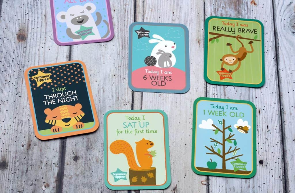Tommee Tippee New Parent Milestone cards