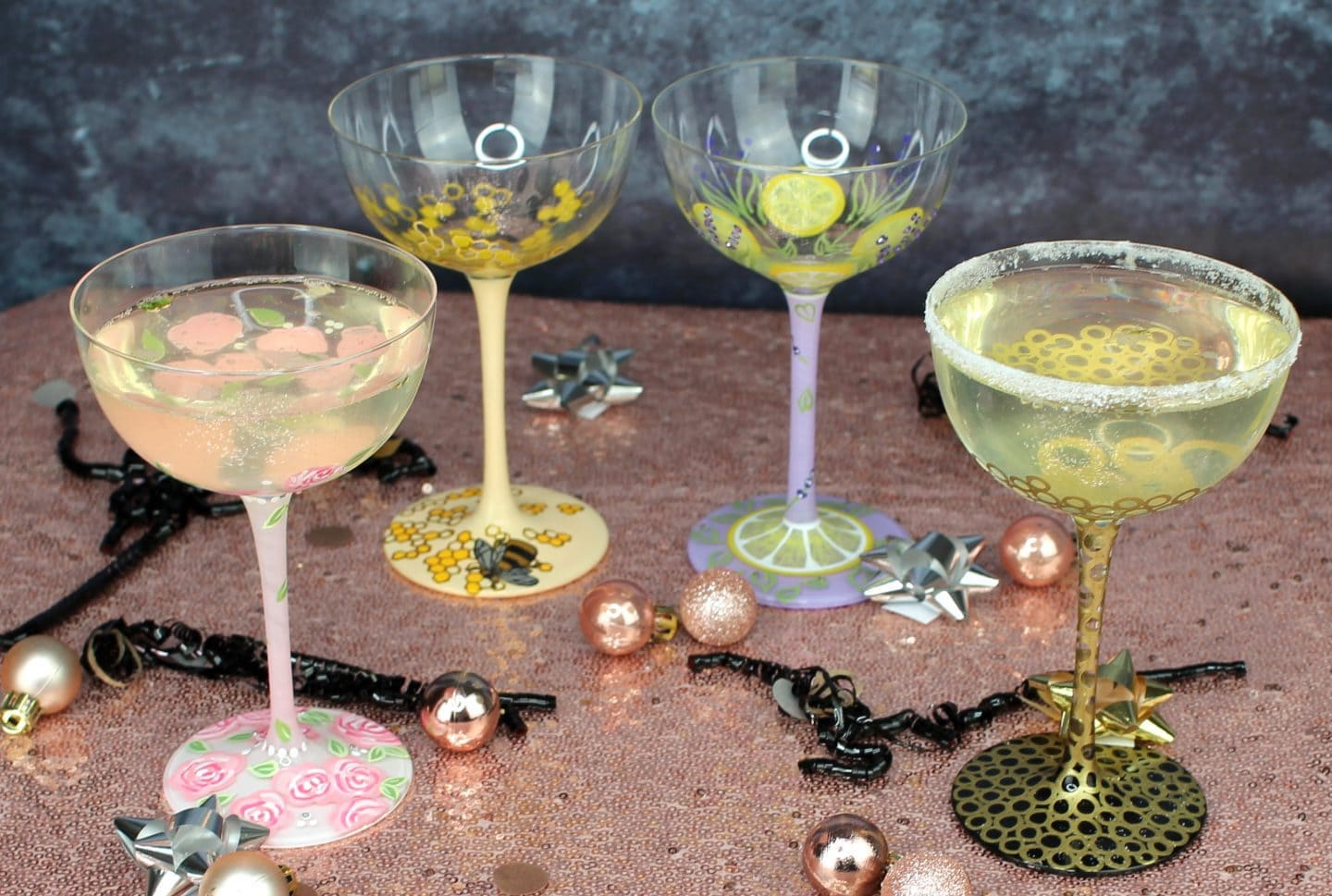 Elderflower Prosecco Fizz Cocktails Lolita glasses
