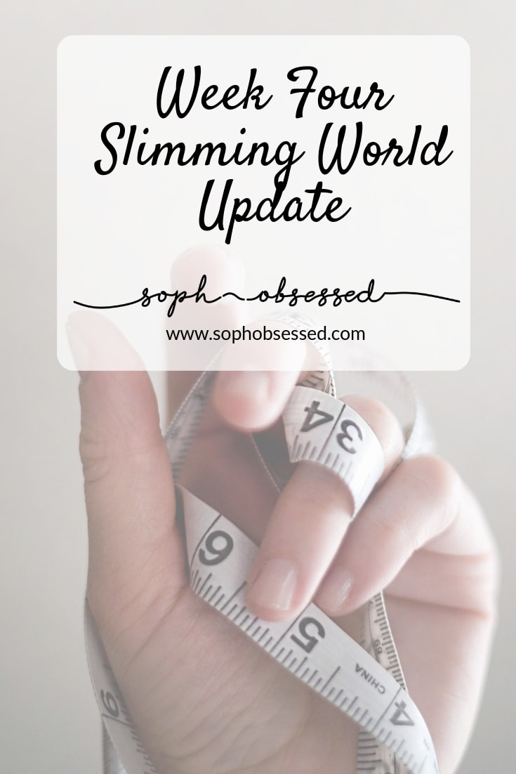 I'm incredibly late with this update, so I am terribly sorry for my delay!! That being said it is time for my week four of Slimming World update and since last week wasn't the best with a 1lb gain did I manage to get back on plan?