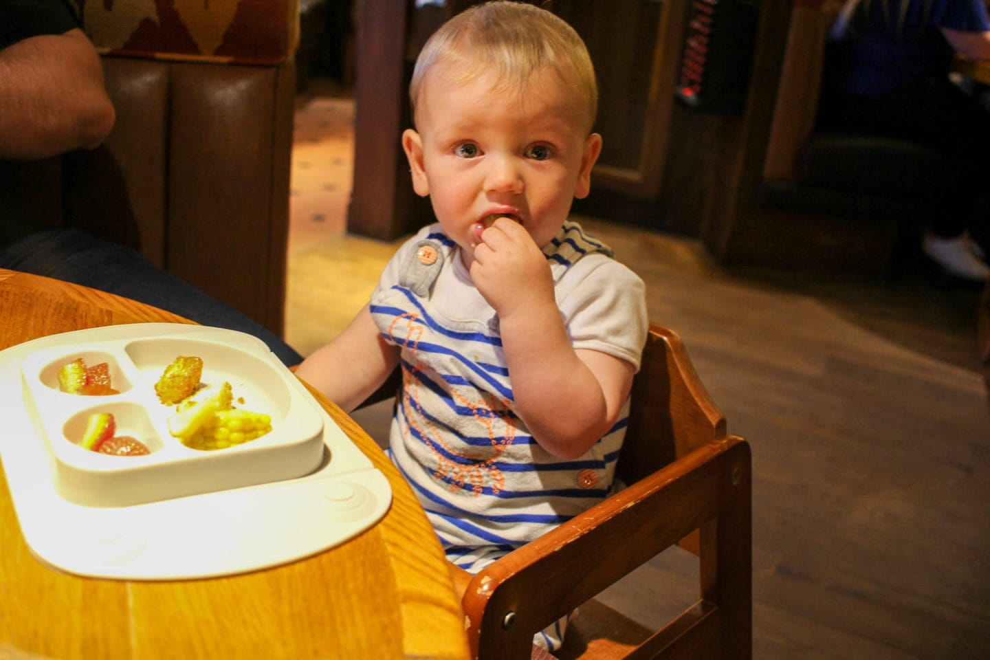 Eating Out With A Weaning Baby