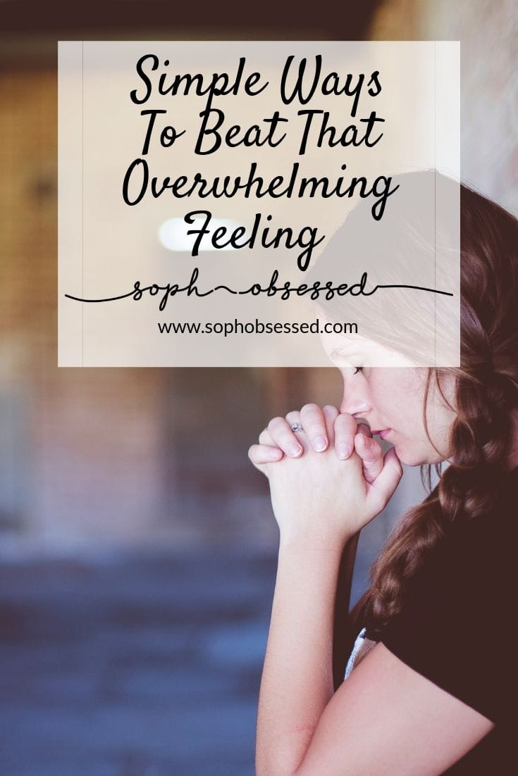 Do you ever feel completely overwhelmed with a situation, a moment or just life in general? As an anxiety sufferer, one of the big feelings I have about life daily is the feeling of overwhelm. It all feels like a bit too much a whole lot of the time. You see that's the thing with life despite how we might all look like we have it together we are merely feeling in the dark. I don't like feeling my way in the dark.