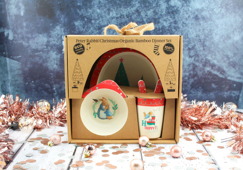 Beatrix Potter Peter Rabbit bamboo Christmas dinner set