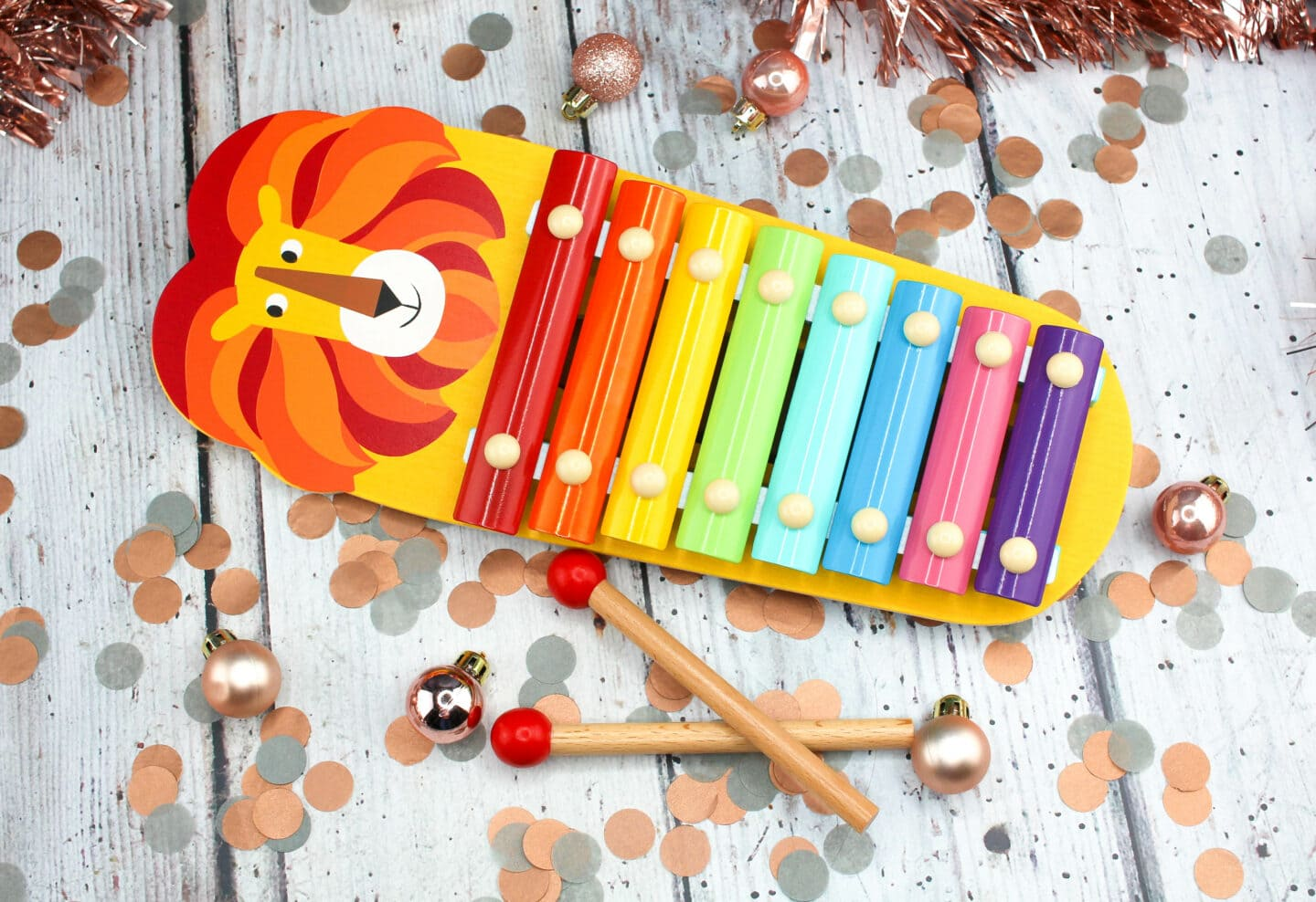 Charlie the Lion Classic Wooden Xylophone