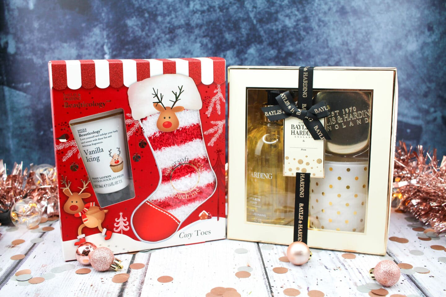 Sweet Mandarin & Grapefruit Luxury Home Gift Set RRP £15.00 Beauticology Rudolph Festive Treats for Feet Set RRP £8.00
