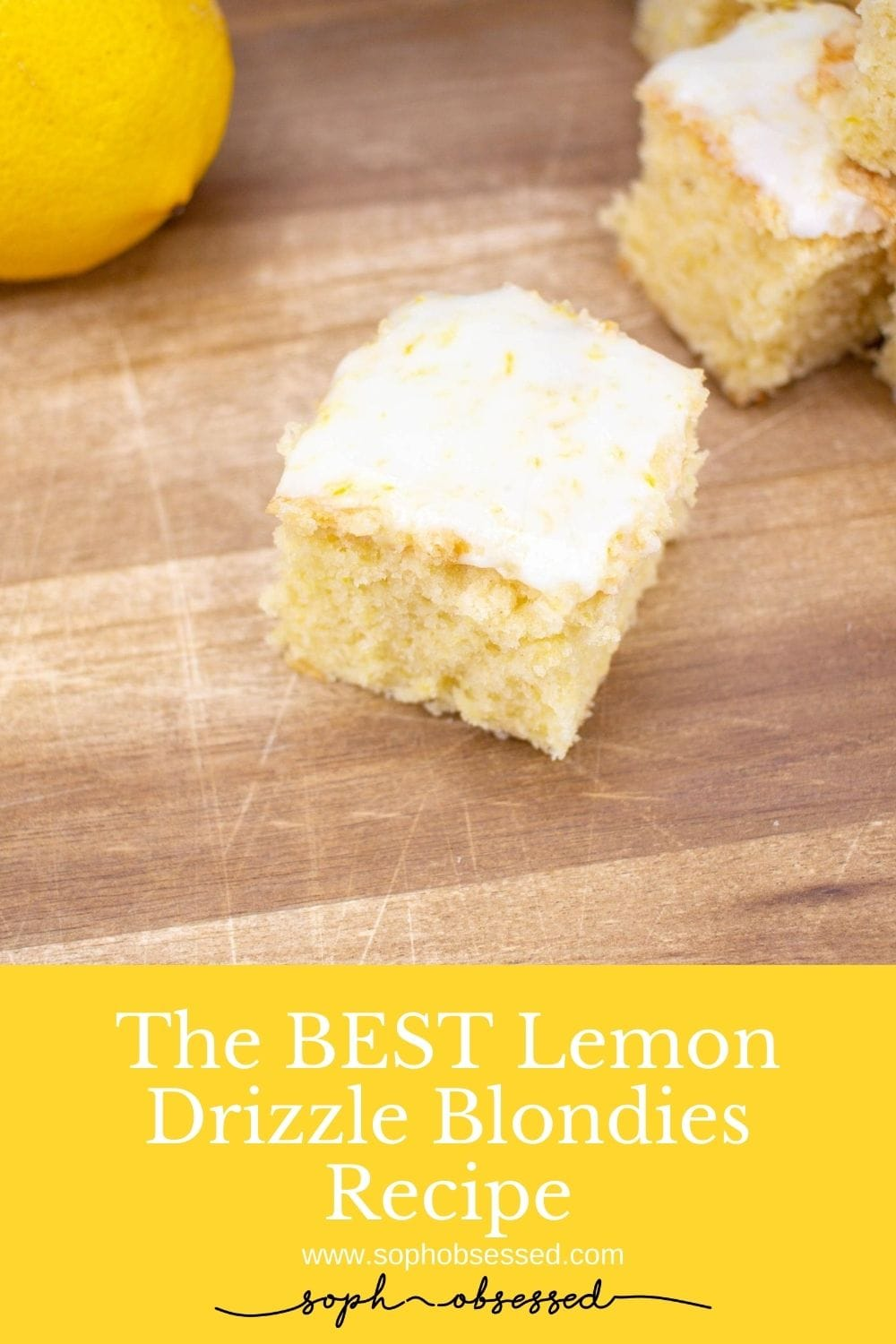 The best lemon drizzle blondies recipe